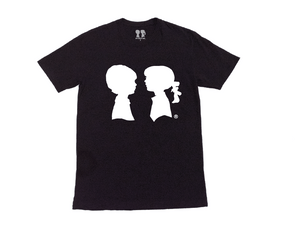 BOY MEETS GIRL® Black Unisex Alice Logo Tee