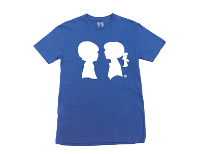 BOY MEETS GIRL® Blue Unisex Alice Logo Tee