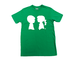 BOY MEETS GIRL® Green Unisex Alice Logo Tee
