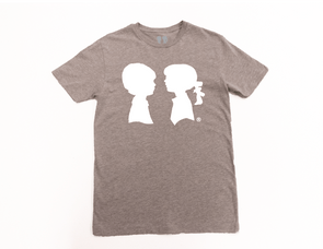 BOY MEETS GIRL® Grey Unisex Alice Logo Tee