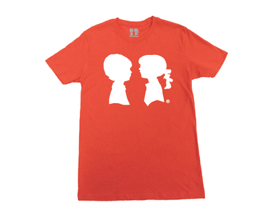 BOY MEETS GIRL® Orange Unisex Alice Logo Tee