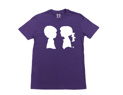 BOY MEETS GIRL® Purple Unisex Alice Logo Tee