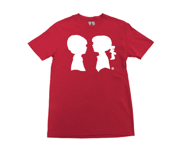BOY MEETS GIRL® Red Unisex Alice Logo Tee