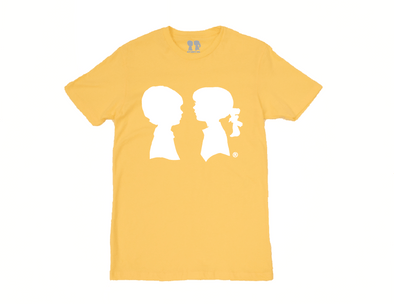 BOY MEETS GIRL® Yellow Unisex Alice Logo Tee