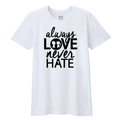 BOY MEETS GIRL® Always Love, Never Hate Unisex Tee