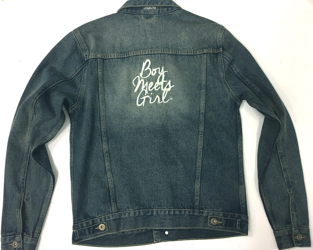 BOY MEETS GIRL® No Secrets Oversized Denim Jacket