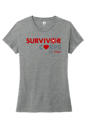 BOY MEETS GIRL® x SURVIVOR CORPS Tri-Blend Crew Neck Heather Grey T-Shirt