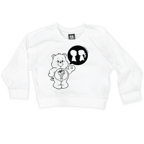 BOY MEETS GIRL® x CARE BEARS White Crop Sweatshirt
