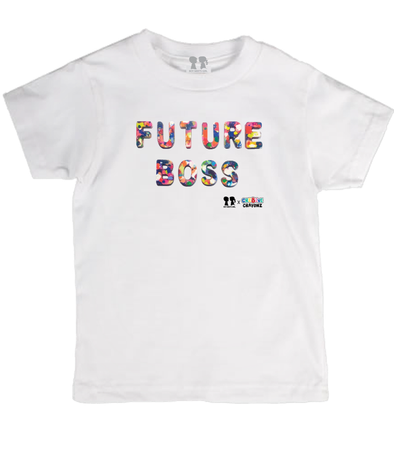 BOY MEETS GIRL® FUTURE BOSS Recycled Confetti Font Youth Unisex T-Shirt