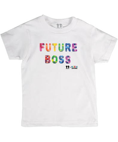 BOY MEETS GIRL® FUTURE BOSS Rainbow Font Youth Unisex T-Shirt