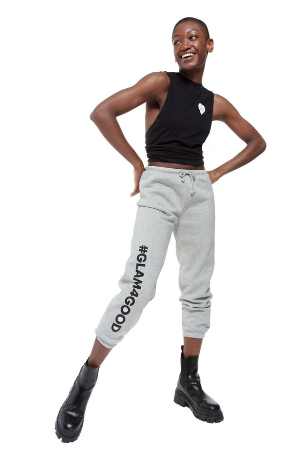 BOY MEETS GIRL® for GLAM4GOOD Heather Grey Classic Sweatpant