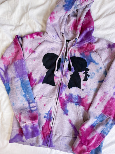 BOY MEETS GIRL® x MERM MADE Limited Edition Tie-Dye Heather Grey Coco Logo Hoodie