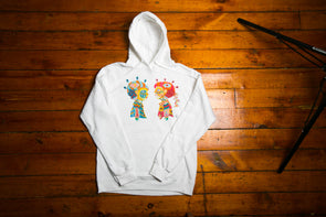 "BOY MEETS GIRL® Artist Series Unisex Pullover Hoodie ""Blind Love"": Aaron Purkey"
