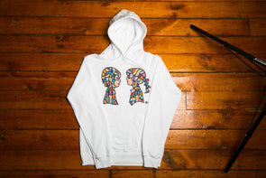 "BOY MEETS GIRL® Artist Series Unisex Pullover Hoodie ""Happy Thoughts"": Aaron Purkey"