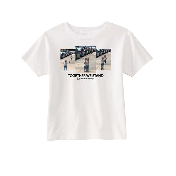 BOY MEETS GIRL® x #SHOWUP x @WellEgan White Kids T-Shirt
