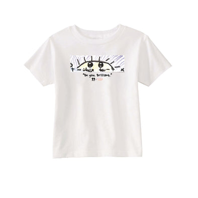 BOY MEETS GIRL® x Crayon Activist™️ White Kids T-Shirt
