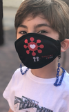 "BOY MEETS GIRL® x Pretty Connected Mask Chain Set: Kids Survivor Corps ""Dylan"" Drinking Mask with Peach  Chain"