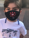 "BOY MEETS GIRL® x Pretty Connected Mask Chain Set: Kids Multi-Color ""Dylan"" Drinking Sparkle Mask with Light Blue Chain"