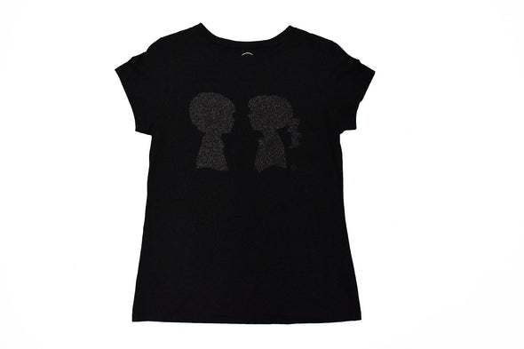 Boy Meets Girl® Glitter 'n' Grit Black Logo Tee