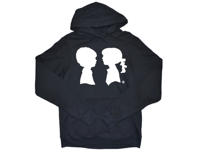 BOY MEETS GIRL® Black Unisex Coco Pullover Hoodie