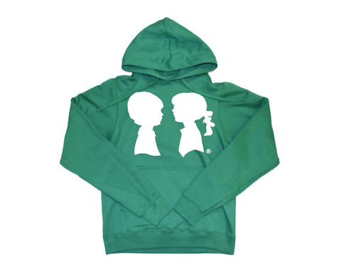 BOY MEETS GIRL® Green Unisex Coco Pullover Hoodie