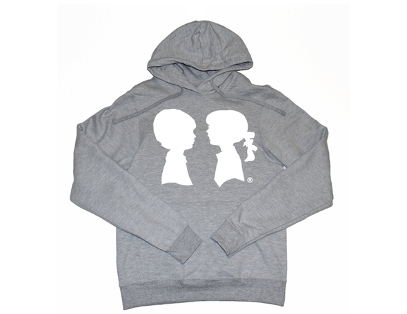 BOY MEETS GIRL® Grey Unisex Coco Pullover Hoodie