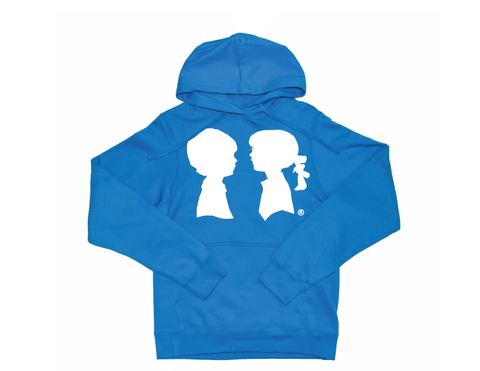 BOY MEETS GIRL® Blue Unisex Coco Pullover Hoodie