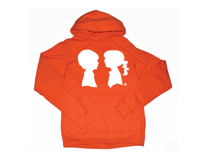 BOY MEETS GIRL® Orange Unisex Coco Pullover Hoodie