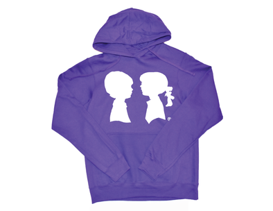 BOY MEETS GIRL® Purple Unisex Coco Pullover Hoodie