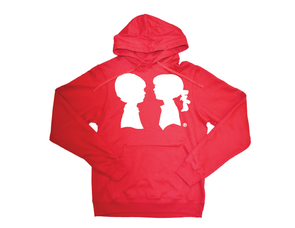 BOY MEETS GIRL® Red Unisex Coco Pullover Hoodie