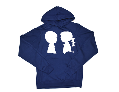 BOY MEETS GIRL® Navy Blue Unisex Coco Pullover Hoodie