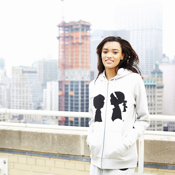 BOY MEETS GIRL® Heather Grey Coco Logo Hoodie