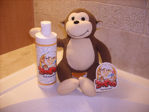 Full ZooPoo Monkey + 12oz Refill of ZooPoo Kids Shampoo