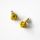 Braid knot stud earring