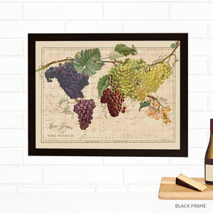 Wine Grapes Map of the World by Wendy Gold