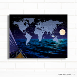 World Sailing Pushpin Map by Wendy Gold  Edit alt text