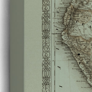 Vintage South America Push Pin Map  by Wendy Gold