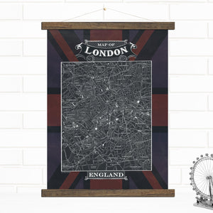 city of london map art