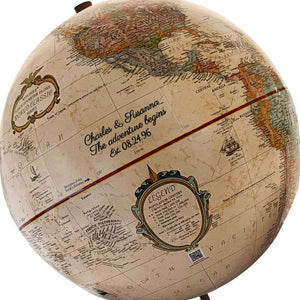 Imprinted 9 inch Axis Adventure Begins World Globe