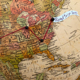 Push Pin Globe to Track Family Travels by Wendy Gold