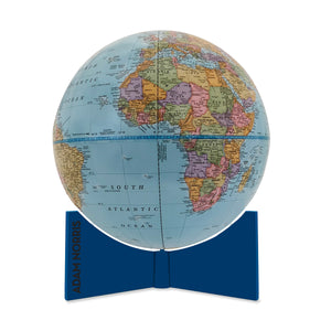 Personalized Small Desktop Kids Globe with Blue Base