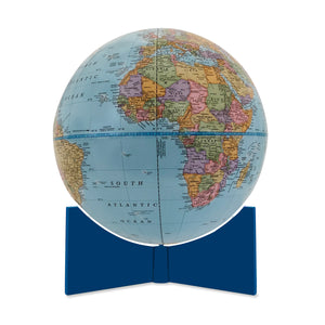 Small Blue Handheld World Globe-blue base