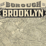 Brooklyn New York Vintage Map Hanging Wall Art