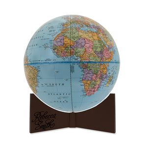 9 Inch Personalized Engraved World Traveler Desk Globe