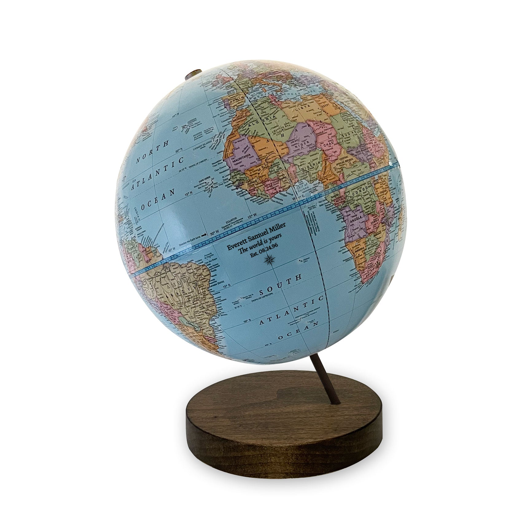Imprinted 9 inch Axis World is Yours Globe
