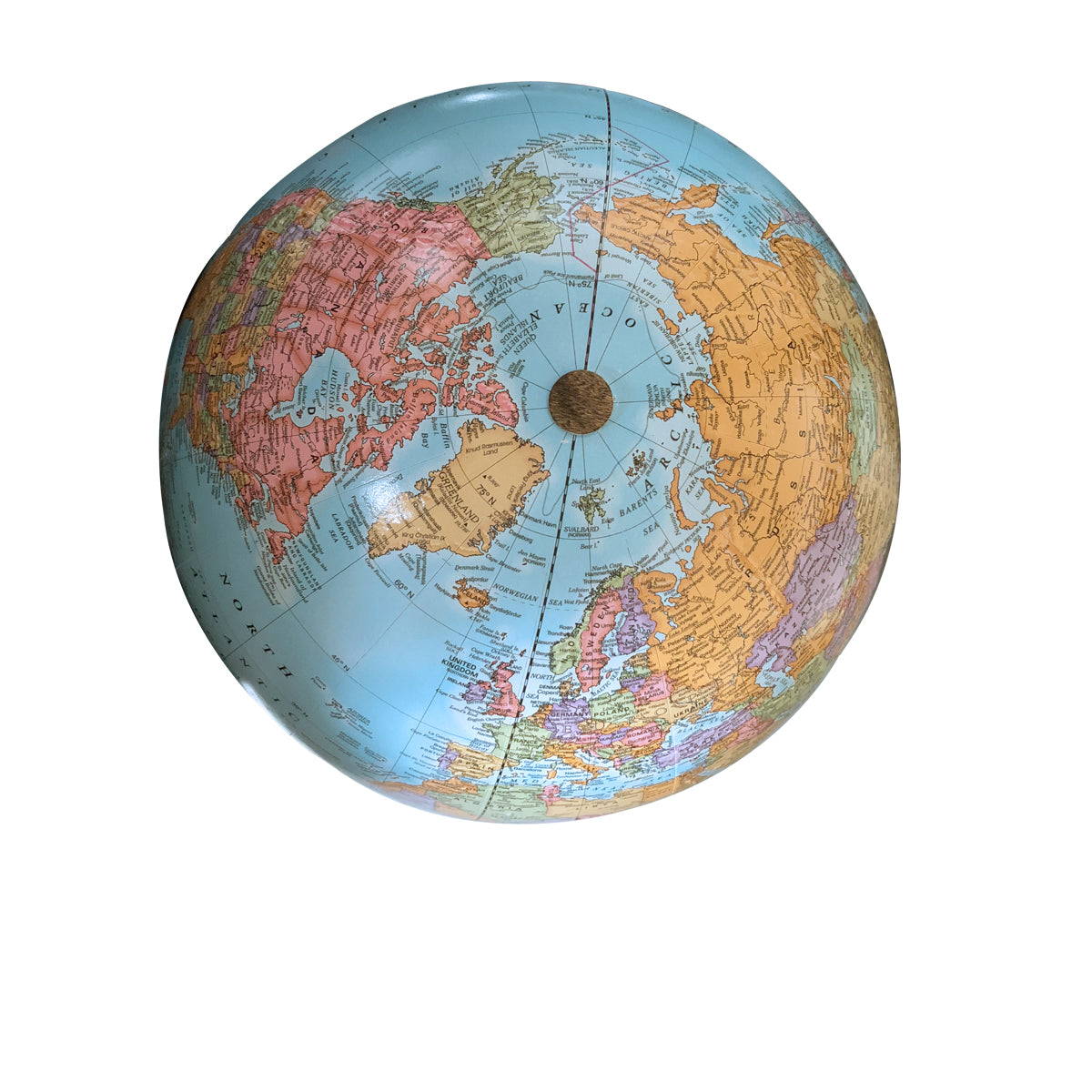 9 Inch Blue Classic Desk Globe with Handmade Stained Wood Base