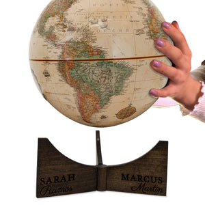9 Inch Personalized Engraved World Explorers Desk Globe