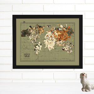 dog art world map
