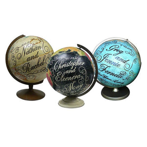 Personalized Wedding Globe Art by Wendy Gold