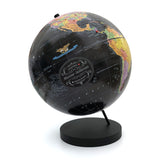 Push Pin Globe with Personalized Legend Black